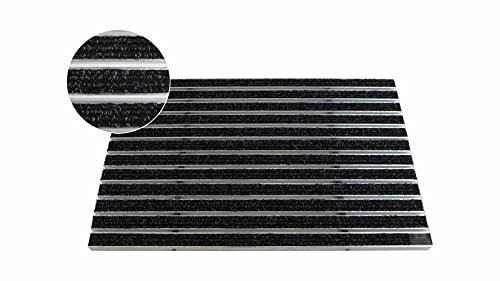 Gr/ö/ße:740 x 490 mm Emco Eingangsmatte Diplomat 10mm Textilb/ürste grau Fu/ßabstreifer ALU Fu/ßmatte T/ürmatte Abstreifer