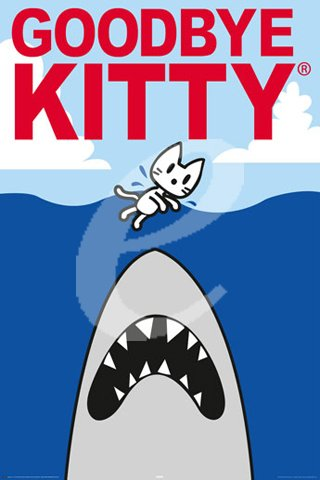 Empire 376503 Goodbye Kitty - Shark - Comic Poster - Grösse 61 x 91.5 cm von Empire