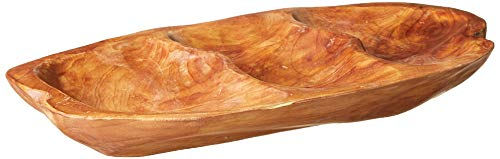 Enrico 2207 Root Wood 3-Section Server, Small Appetizer Tray von Enrico