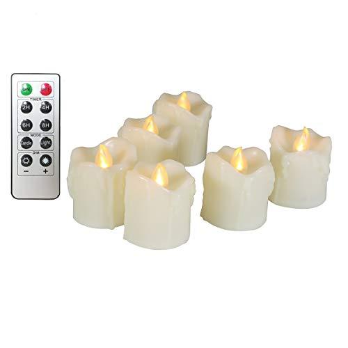 Teelicht LED Kerzen Realistische Batterie enthalten Flammenlose Fake Kerzen GE