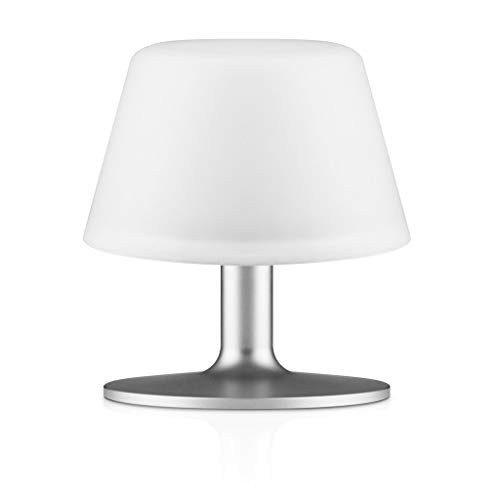 Eva Solo 571337.0 Sunlight Table Lamp, Solar Cell, Accessories for The House, White, 13.5cm, 571337 [Energy Class A], Glas, Weiß, 19,8x17,6x17,4 cm von Eva Solo