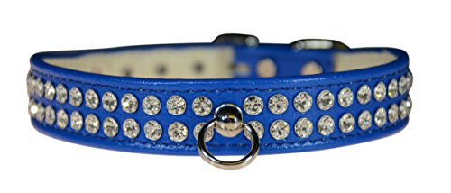 "Evans Collars 3/4"" Shaped Collar with Crystal Jewels, Size 14, Vinyl, Blue von Evans Collars"