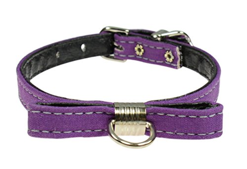 "Evans Collars Collar with Bow,10"", Solid Cotton, Passion Purple von Evans Collars"