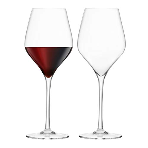 Final Touch 100% Lead-free Crystal Red Wine Glasses Rotweingläser Kristallglas Hergestellt mit DuraSHIELD Titanium verstärkt für erhöhte Haltbarkeit Tall 26 cm 620ml - Packung mit 2 Stück von FINAL TOUCH