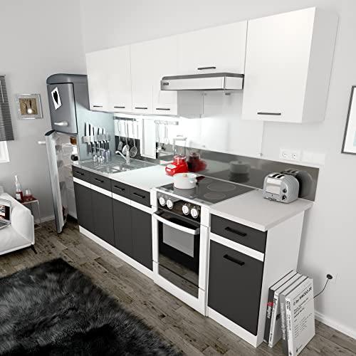 schwarz k chenzeilen und weitere k chenm bel g nstig online kaufen bei m bel garten. Black Bedroom Furniture Sets. Home Design Ideas