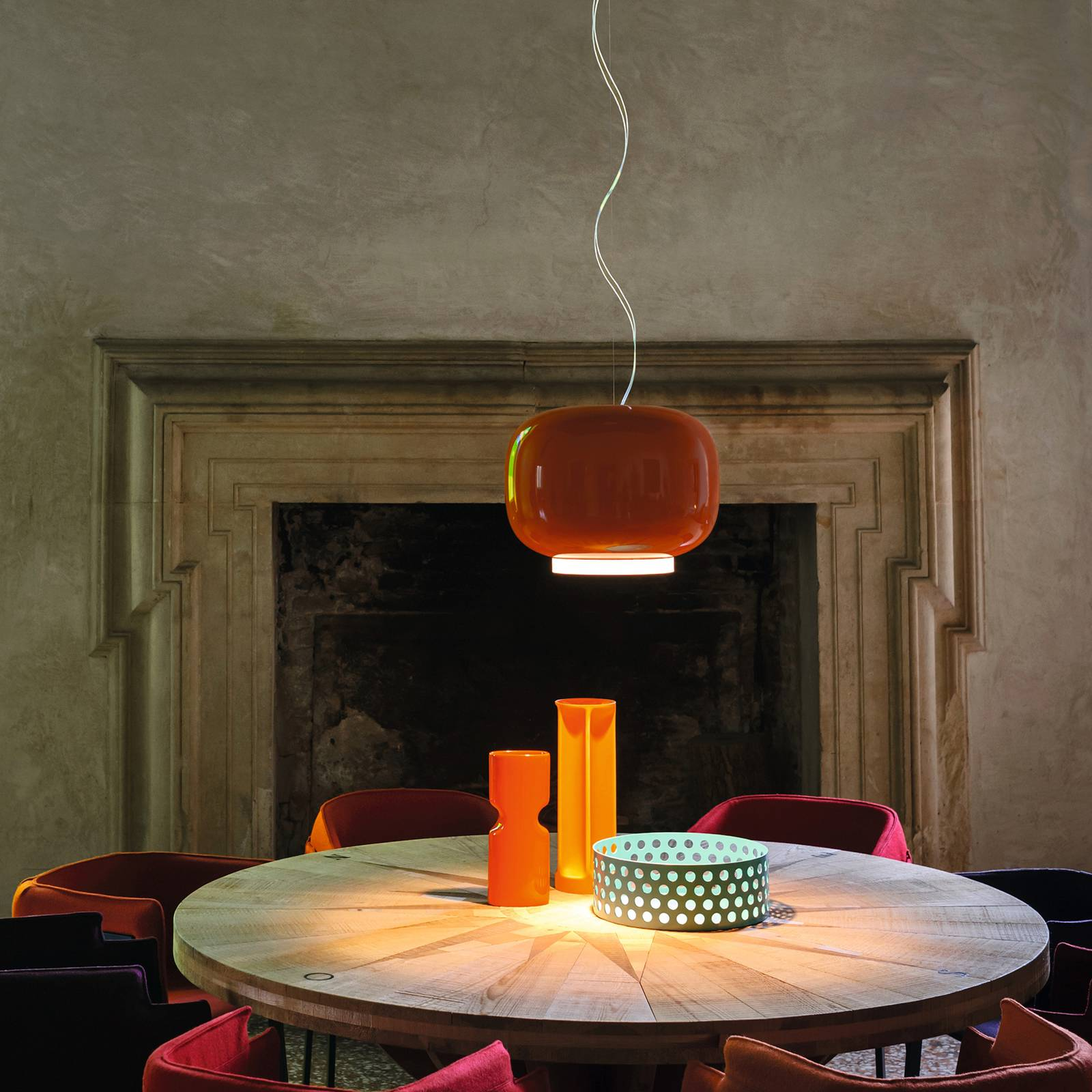 Foscarini MyLight Chouchin 1 LED-Hängelampe orange von FOSCARINI