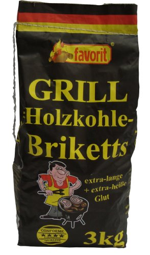 Favorit 3000 Holzkohle-Briketts 3 kg von Favorit