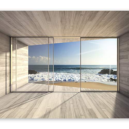 Murando   Fototapete Meer Fenster 250x175 Cm   Vlies Tapete   Moderne  Wanddeko   Design Tapete   Wandtapete   Wand Dekoration   Meer See Natur  Landschaft ...