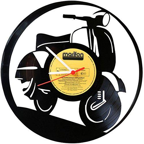 Wanduhr Aus Vinyl Schallplattenuhr Vespa Upcycling Design Uhr Wand Deko Vintage Dekoration Retro Made In Germany