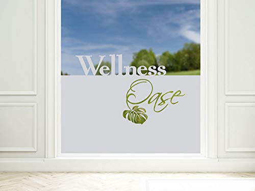 Sichtschutzfolie Wellness Fensterfolie Entspannung Klebefolie Fenster braun