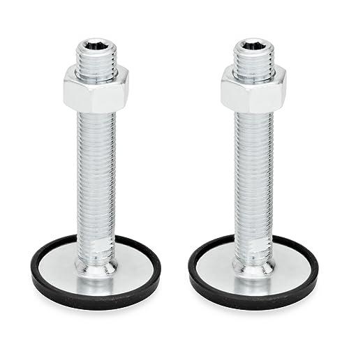 Silber Gummi aufvulkanisiert Ganter Normelemente GN 41-60-M8-50-D3-SK 41-60-M8-50-D3-SK-Edelstahl Stellf/ü/ße