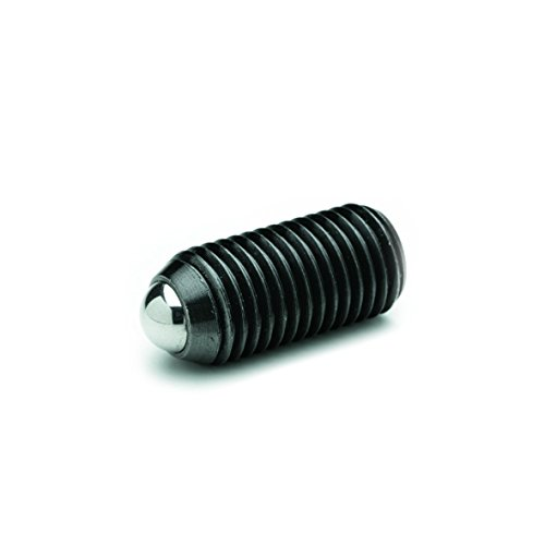 Ganter Normelemente GN 300.1-45-M5-50-SW 1-45-M5-50-SW-Verstellbare Klemmhebel mit Edelstahl-Gewindeschraube schwarz Gewinde strukturmatt M5x50mm