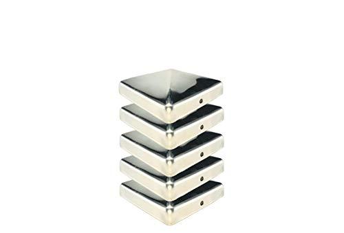 Gartenwelt Riegelsberger Premium PVC Pfostenkappe 70x70 mm GR/ÜN Abdeckung f/ür Kantholz 7x7 cm aus Kunststoff