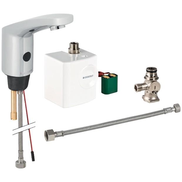 Geberit HyTronic185 Waschtisch Armatur Infrarot/Generator Berührungslos Mit  Untertischmischer 116365211