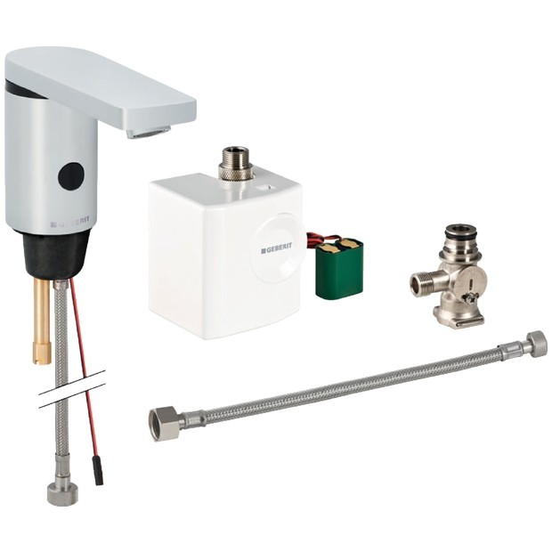 Geberit HyTronic186 Waschtisch Armatur Infrarot/Generator Berührungslos Mit  Untertischmischer 116366211