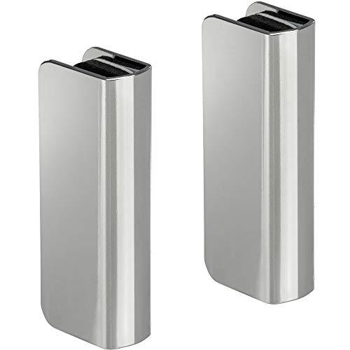 2 Stück   GedoTec® Möbel Magnet Druckverschluss Gegenstück Zum Aufklemmen    Für Glasdicke 4   6 Mm   Stahl Verchromt   Markenqualität Für Ihren  Wohnbereich