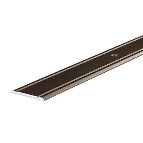 1 St/ück Ausgleichsprofil Aluminium T/ürschwelle zum Schrauben Profil 30 x 1000 mm Vinyl /Übergangs-Schiene gelocht Bodenprofil gew/ölbt Alu Bronze eloxiert Gedotec /Übergangsprofil Laminat