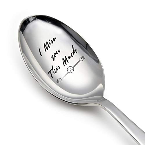 Gifttoys I miss you this much gravved spoon-love gifts-love geschenke für Freundin Love Geschenke für Ehemann - Love Geschenke für Frau von Gifttoys