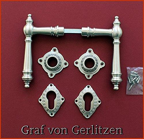 Graf von Gerlitzen Antik Eisen T/ür Griffe T/ürgriffe Rosetten BB Gr/ünderzeit R31E