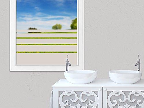 Glasdekorfolie Blickdicht Fensterfolie zur Deko//Sichtschutz GRAZDesign Sichtschutzfolie Fenster Streifen 80x57cm