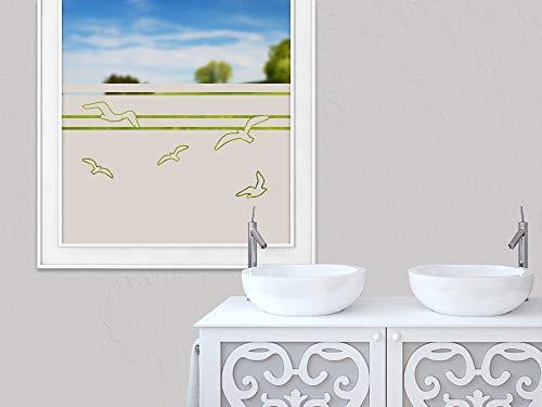 Sichtschutzfolie Streifen Karo Muster Fensterfolie Glasdekorfolie Bad Glastür