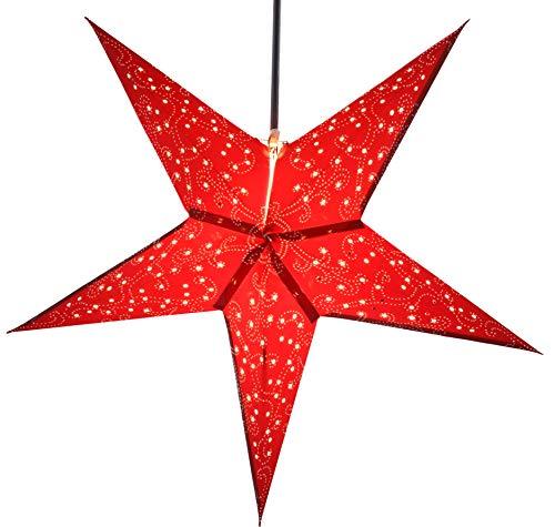 Adventsstern Weihnachtsstern Au/ßen 18x18x18 cm Guru-Shop LED Ministern Baltasar f/ür Innen rot//Komplettset mit Trafo 230V Plastik