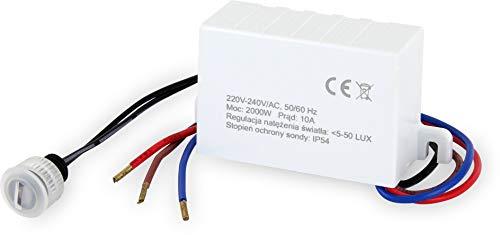 Aufputz Infrarot Bewegungsmelder 360/° IP65 230V f/ür Aussen und Feuchtraum LED geeignet ab 1W-2000W Reichweite 20m mit D/ämmerungssensor