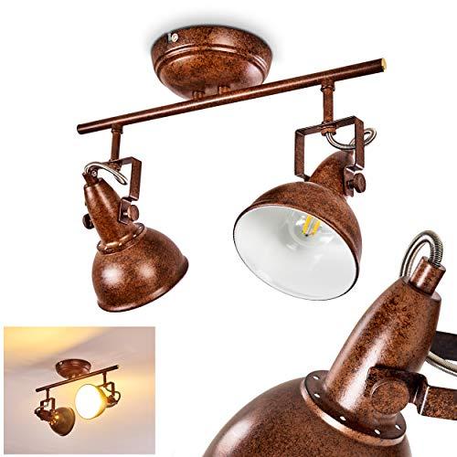 Retro Decken Strahler Tina Weiß Wohn Schlaf Zimmer Lampe Küche Flur Büro Loft