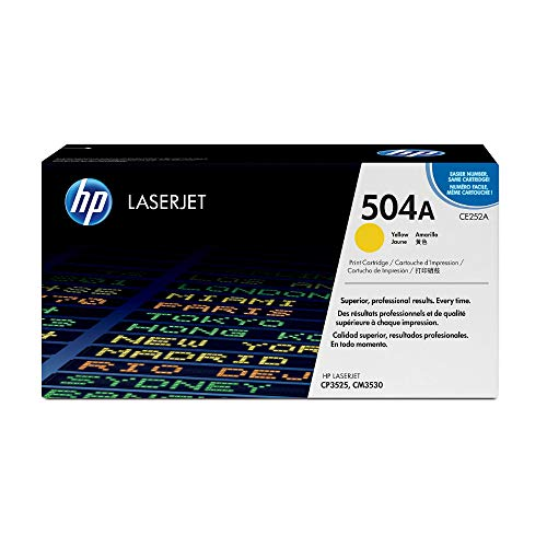 HP 504A (CE252A) Gelb Original Toner fürHP Color Laserjet CP3525, HP Color Laserjet CM3530 von HP