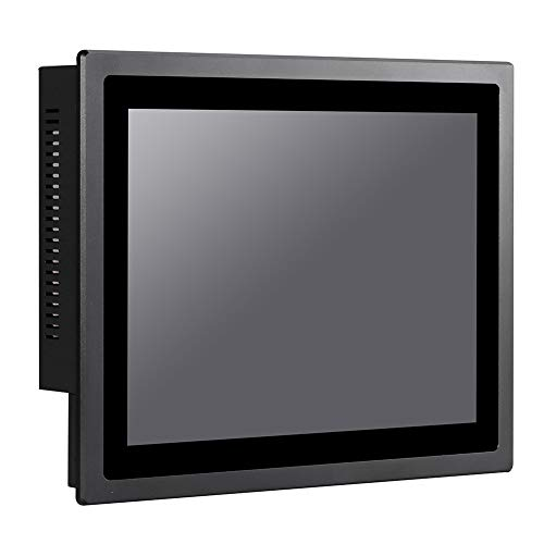 12 Inch IP65 Industrial Touch Panel PC,All in One Computer,10 Points Capacitive TS,Windows 7/10,Linux,Intel J1900,(Black),[HUNSN WD13],[3RS232/VGA/LAN/5USB2.0/1USB3.0/Audio],(8G RAM/64G SSD) von HUNSN