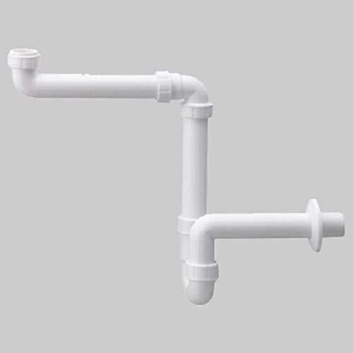 HAAS PP Doppelsp/ülensifon Doppelsp/ülensiphon 1 1//2 Zoll DN 40 mm 2-fach Ablaufgarnitur Doppelsp/üle Waschbecken Ablauf Abfluss f/ür 2 Sp/ülen 2970