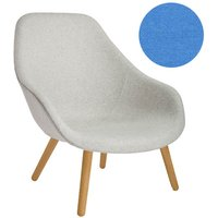 HAY - About A Lounge Chair High AAL 92 - Remix 743 - Gestell klar lackiert - indoor von Hay