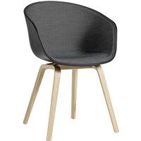 Hay About A Chair AAC22 mit Innenpolsterung Concrete Grey/Surface 120/Eiche gelaugt von Hay