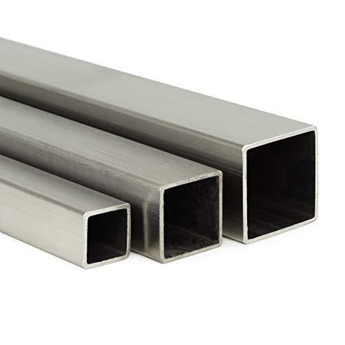 Edelstahl Vierkant VA V2A blank h11-20x20mm L: 200mm 20cm auf Zuschnitt