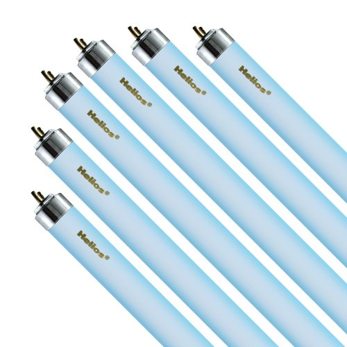 Helios 20-watt T6 Actinic O3 Light for Aquarium, 24-Inch, Blue, 6-Pack von Helios