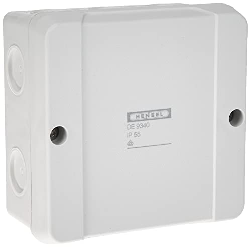 Hensel de 9340 Polystyren Electrical Junction Boxes (Grey, 52 mm, 98 mm, 117 g), grau von Hensel