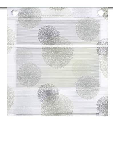 130 X 80 cm GRAU Home Fashion Magnetrollo Querstreifen Digitaldruck Vitus