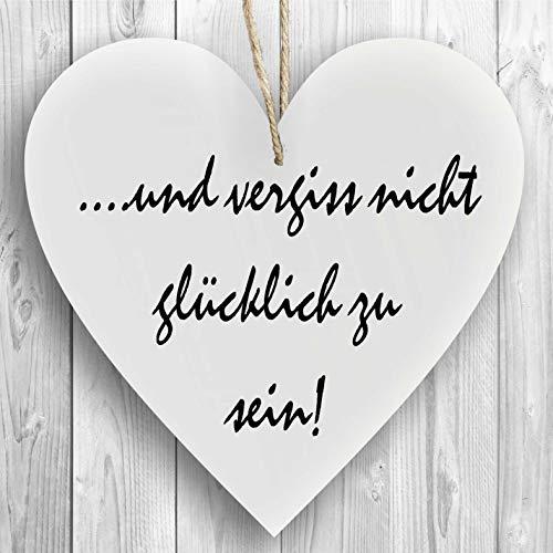 Herzschild Holzherz Holzschild 16 x 16 cm Omas sind wie Mamas nur mit Puderzucker wei/ß Dekoschild Wandschild Schild Holz Geschenk