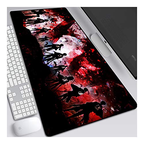 ITBT Mauspad Attack on Titan Gaming Mauspad, 800 x 300 mm, 3mm Vernähte Kanten, rutschfest Anime Mousepad, mit Einer speziellen Oberfläche verbessert Geschwindigkeit und Präzision, F von ITBT
