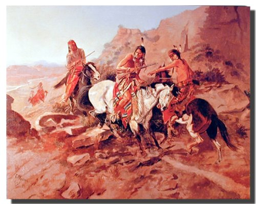 Charles Marion Russell der Scout-Old American West Poster/Kunstdruck (40 x 50) von Impact Posters Gallery