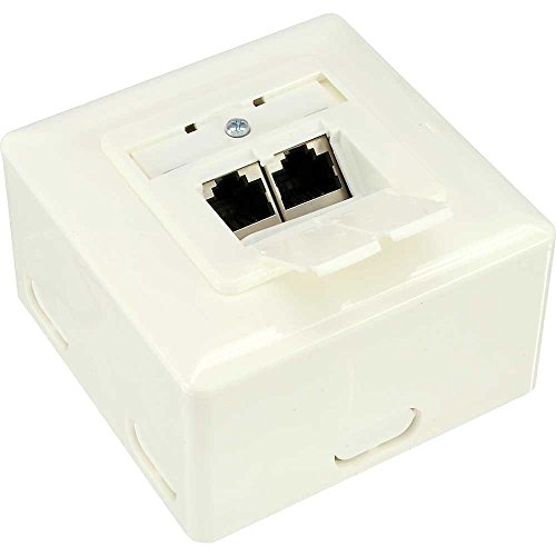 InLine 75602J White Outlet Box – Outlet boxes von InLine
