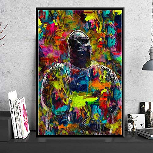 JEfunv Art Decor Poster und Drucke Psychedelic Notorious Big Art Painting Wandbilder Home Decor 60x80cm No Frame von JEfunv