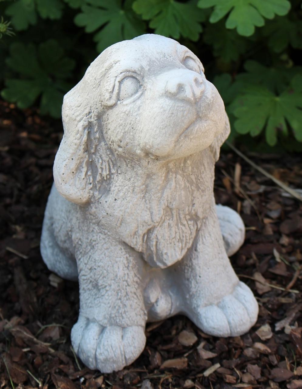 Dekofigur Deko Figur Tierfigur Gartenfigur kleiner Eisbär Höhe 15 cm aus Beton