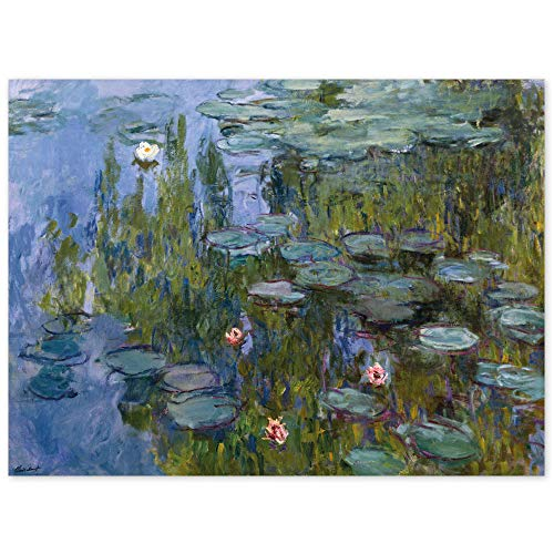 JUNIWORDS Poster, Claude Monet, Nymphéas, Seerosen, 85342, 40 x 30 cm von JUNIWORDS