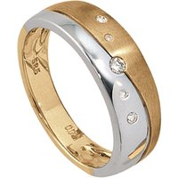 JOBO Diamantring, 585 Gold bicolor mit 5 Diamanten von Jobo