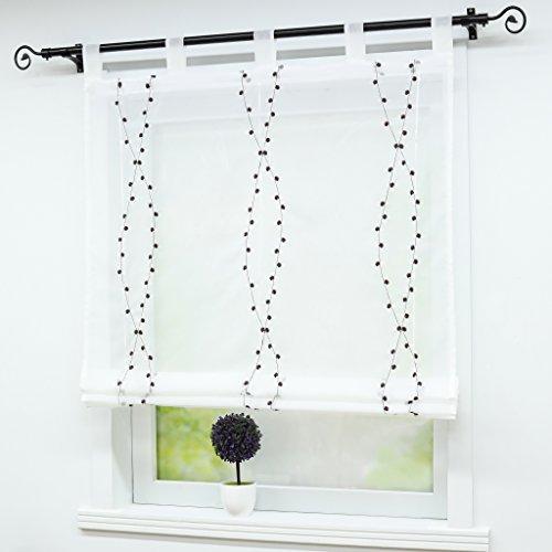 braun scheibengardinen und weitere gardinen vorh nge. Black Bedroom Furniture Sets. Home Design Ideas