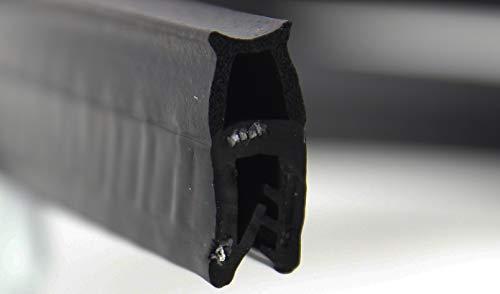 Kantenschutz mit Dichtgummi oben Klemmbereich 1-2 mm 1m=3,90€