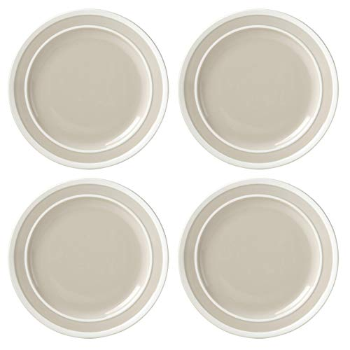 Kate Spade 879398 Sculpted Stripe Beige 4pc Dinner Plate Set, 9.6 LB, Brown von Kate Spade New York