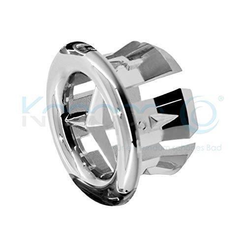 chrom KNOPPO Set 2 x Star Waschbecken Design /Überlauf Abdeckung /Überlaufblende