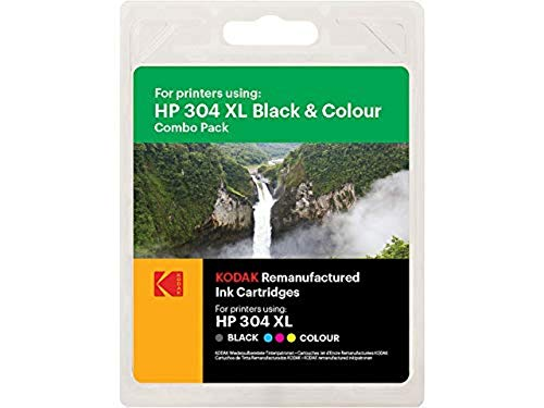 Kodak Supplies 185H030417 passend für HP DJ2620 Tinte (2) Multicolor kompatibel zu HP304XL/N9K08AE/N9K07AE 15ml schwarz/18ml Color von Kodak Supplies